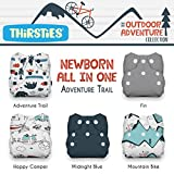 Thirsties Package, Snap Newborn All In One, Outdoor Adventure Collection Adventure Trail