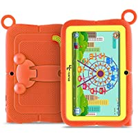 Yuntab Q88R 7 inch Kids Edition Tablet with Premium Parent Control iWawa Kids Software Pre-Installed, Android, Quad Core, 8 GB, WiFi, Bluetooth, Dual Camera, Protecting Silicone Case (Orange)