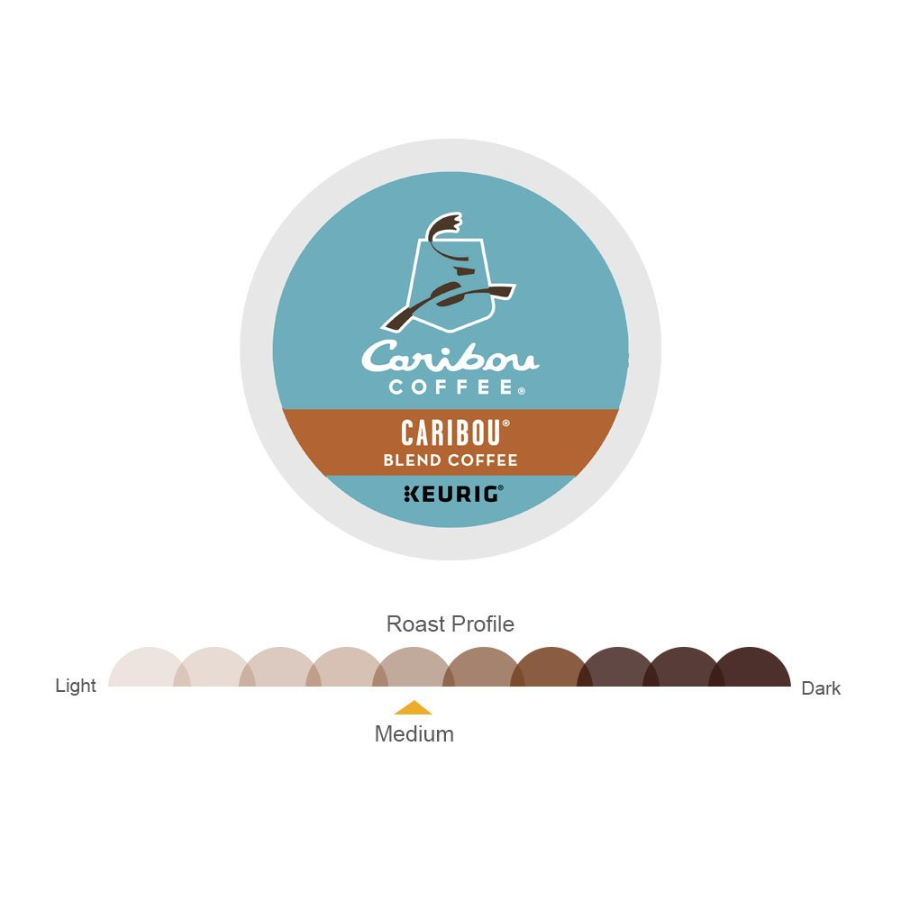 Caribou Coffee Single-Serve K-Cup Pod, Caribou Blend Medium Roast Coffee, 72 Count (6 Boxes of 12 Pods) by Caribou Coffee (Image #3)