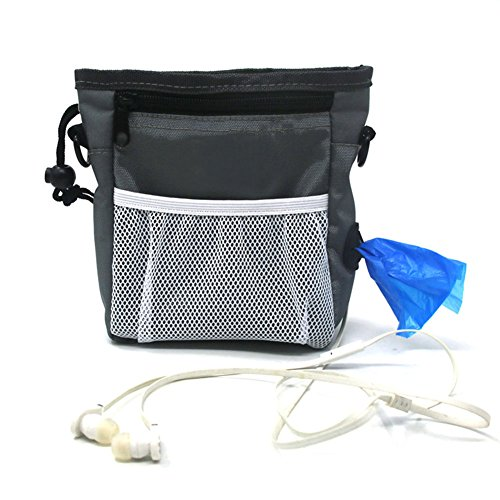 Machao Nylon Professional Dog Treat Training Pouch Carry Multifunctional Snacks Bag for Pets Belt-Grey