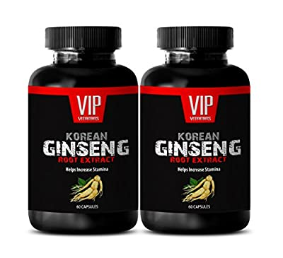 brain memory and concentration - KOREAN GINSENG 350MG - weight management capsules - 2 Bottles (120 Capsules)