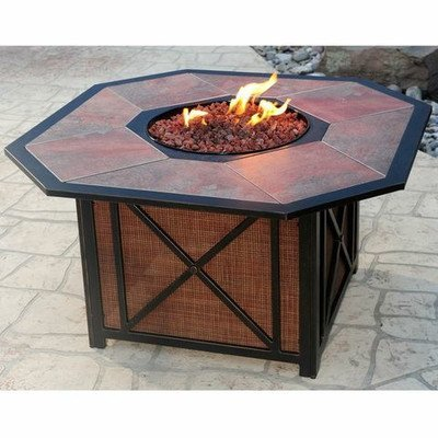 Oakland Living Haywood Octagon Gas Firepit Table, Antique, used for sale  Delivered anywhere in USA