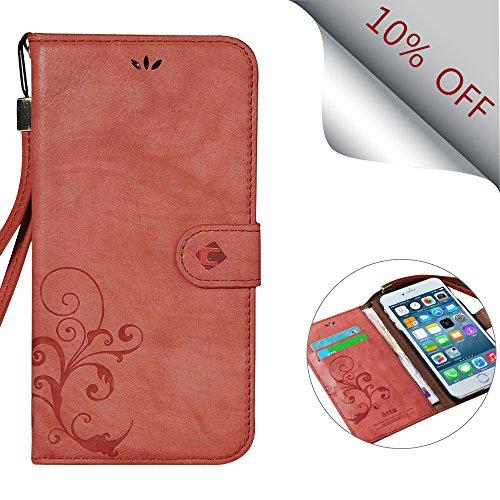 iPhone 6S Plus Fall, cornmi Design [Retro, Streifendesign]–[Kartenschlitz] [Flip] [Slim Fit] [Wallet]–Für Apple iPhone 6und iPhone 6S Plus 14cm Geräte