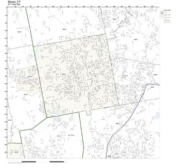 Amazon.com: ZIP Code Wall Map of Bristol, CT ZIP Code Map Not ...