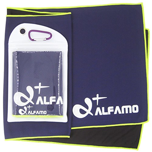 - Alfamo Chill Towel That Beats Summer Heat (Dark Violet/Green-Yellow, S) High Performance Cooling Effect Cold Neck Towel Cooling Neck Bandanas Chill Towels Cool Towel for Gym Golf Sports in Hot Summer