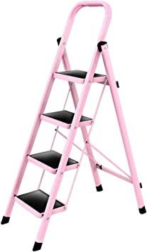 Escaleras plegables Escalera Escalera escalonada Escalera plegable Escalera mecánica Escalera multifunción Escalera plegable para uso doméstico Espesor interior Cuatro pasos 49 * 135 cm Sillas y tabur: Amazon.es: Bricolaje y herramientas