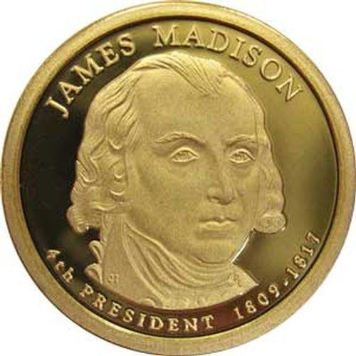 2007 James Madison S Gem Proof Presidential Dollar US Coin ()