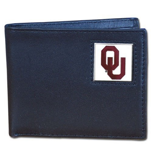 Oklahoma Sooners Leather Bi-fold Wallet
