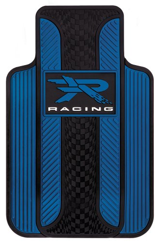 Blue Universal Floor Mat - Plasticolor Blue R Racing Universal-Fit Molded Front Floor Mats - Set of 2