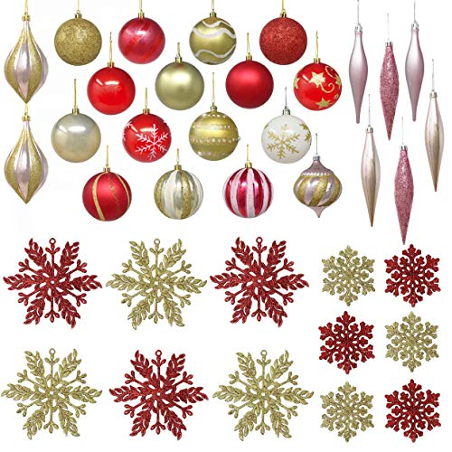 istmas Ornaments Set for Christmas Tree Decoration, 18 Piece Christmas Ornaments 3.15