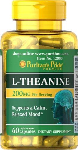 Pride L-teanina de Puritan 200 mg-60 cápsulas