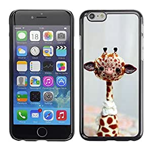 Be Good Phone Accessory // Dura Cáscara cubierta Protectora Caso Carcasa Funda de Protección para Apple Iphone 6 Plus 5.5 // Funny Friendly Giraffe