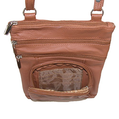 Crossbody Marron Leather Light Ctm Multi Femmes Pocket E4vzqw