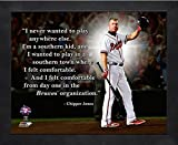 "Chipper Jones Atlanta Braves ProQuotes Photo (Size: 9"" x 11"") Framed"