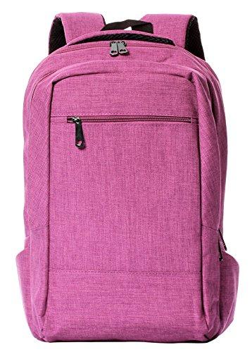 HONEYJOY Business Travel Laptop Daypack Lightweight College Backpack Shoulder Bag School Backpack (432818, Red)