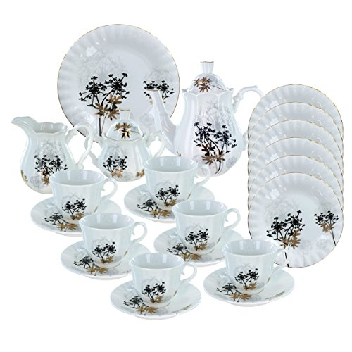 Deluxe Porcelain Tea Set - Verbena Deluxe Porcelain Tea Set