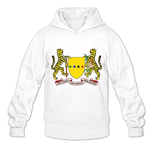 Great Guayana Republic Coat Of Arms Funny 100% Cotton White Long Sleeve Hoodies For Mens Size S (Animal Jam Merchandise compare prices)