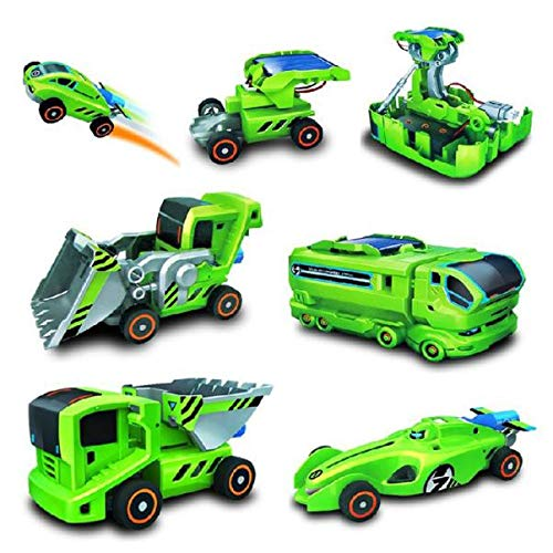 Outtop(TM) Xmas Gifts DIY Assemble 7 in 1 Educational Solar Robot Drilling Machine Dinosaur Insect Kit (As Shown)