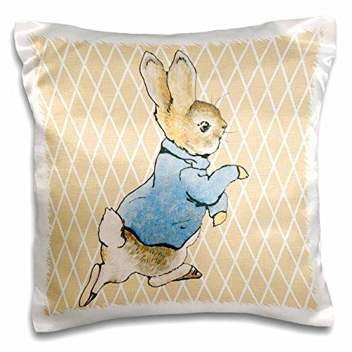 3dRose Peter Rabbit Vintage Art- Animals - Pillow Case, 16 b