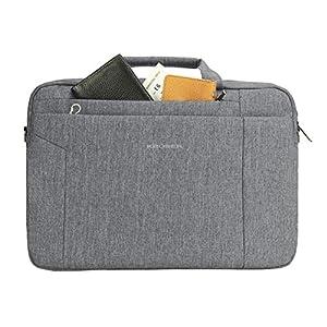 KROSER Laptop Bag 15.6 Inch Briefcase Shoulder Messenger Bag Water Repellent Laptop Bag Satchel Tablet Bussiness Carrying Handbag Laptop Sleeve for Women and Men-Grey