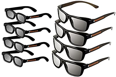 eDimensional Adult Passive Polarized 3D Glasses Family Pack, 8 Pairs