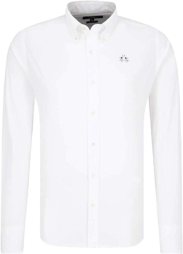 La Martina Man Shirt L/S Poplin Stretch Camisa Casual para Hombre: Amazon.es: Ropa y accesorios