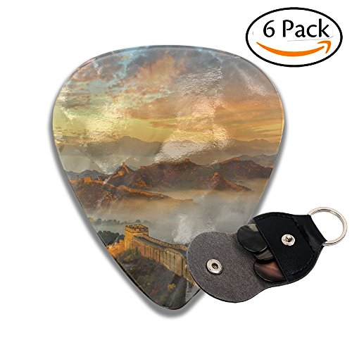 Colby Keats Guitar Picks Plectrums The Great Wall Classic Electric Celluloid Acoustic For Bass Mandolin Ukulele 6 Pack 3 Sizes .46mm