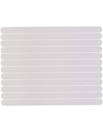 38 CM Autocollants Antid/érapants,24 pcs Bandes antid/érapantes Transparentes autoadh/ésives marches d/'escalier douche et baignoire transparentes Stickers antid/érapants 2