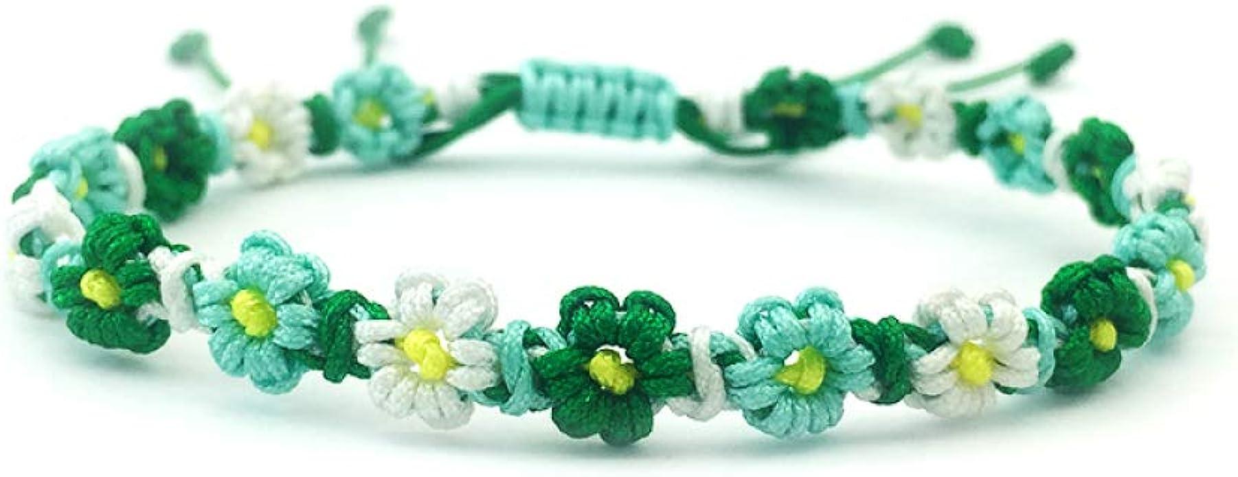 3pcs//Set Bohemian Retro Sunflower Rope Bracelet Women Handmade Woven Jewelry FL
