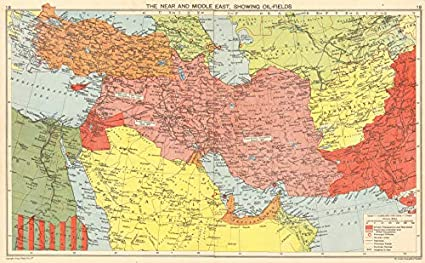 Middle East Map Before Ww2.Amazon Com Ww2 British Free French Middle East Oilfields Dibai
