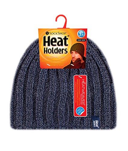 Navy hombre 4 tamaño forrado de de invierno sombrero punto Holders TOG 3 de polar Un acanalado Heat 45aBq7