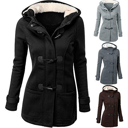 Women Windbreaker Sale Coat DEELIN Tops Fashion Clearance Overcoat Trench Winter Gray Long Jacket Ladies Autumn Warm Long Slim Outwear Wool Sleeve wFnnx