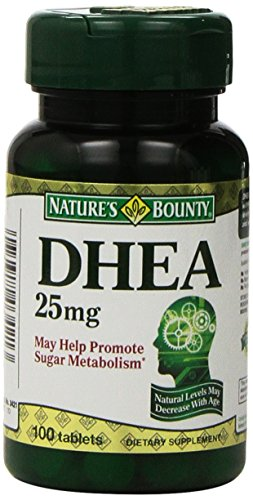 Nature's Bounty DHEA 25mg, 100 Tablets (Pack of 2)