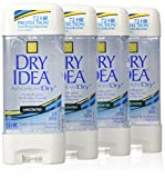 Dry Idea Advanced Dry Antiperspirant & Deodorant, Clear Gel, 72 Hr, Unscented, 3 Oz (Pack of 4)