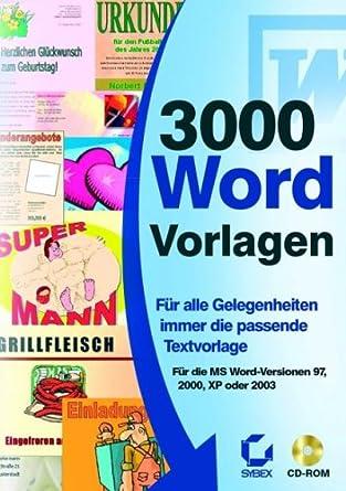 3000 Word Vorlagen Amazon De Software