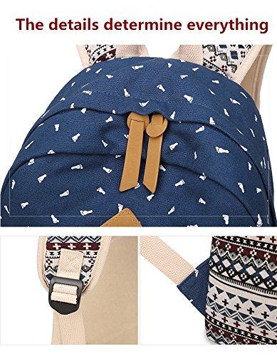 de Style pour Collège nationale Motif l'École Voyage Toile Lady Sac occasionnels Sac pouces Blue Black à pied Preppy femmes Winnerbag 14 d'impression dos Fxq4wP8FO