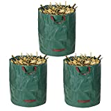 Windyus 72 Gallons Garden Waste Bags,Lawn Bags Pop Up Leaf Bag,Reusable Collapsible Container Bag For Yard Grass Trash -With Portable Handles