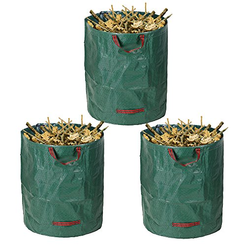 Windyus 72 Gallons Garden Waste Bags,Lawn Bags Pop Up Leaf Bag,Reusable Collapsible Container Bag For Yard Grass Trash -With Portable Handles by Windyus