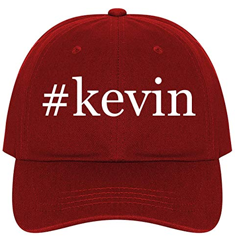 #Kevin - A Nice Comfortable Adjustable Hashtag Dad Hat Cap, Red