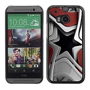 TopCaseStore / la caja del caucho duro de la cubierta de protección de la piel - Abstract Star - HTC One M8