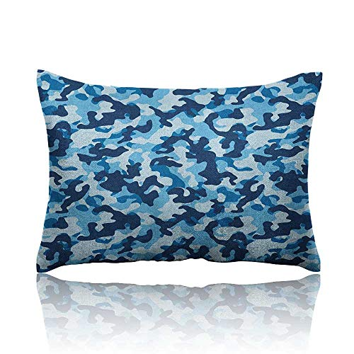 Anyangeight Camouflage Small Pillowcase Costume Pattern with Vibrant Color Palette Abstract Composition Concealment Zipper Pillowcase 20
