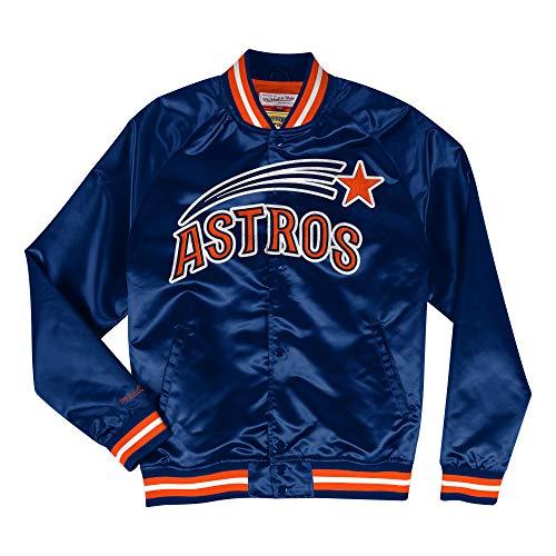 Jacket Houston Astros (Mitchell & Ness Houston Astros MLB Men's Big Time Lightweight Satin Jacket)