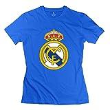 ywt Real Madrid logotipo de la mujer camisetas pre-cotton Retro DeepHeather c785175ab6aa8