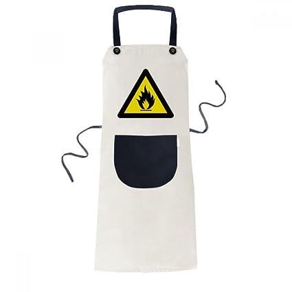 Black Warning Man In The Kitchen Apron