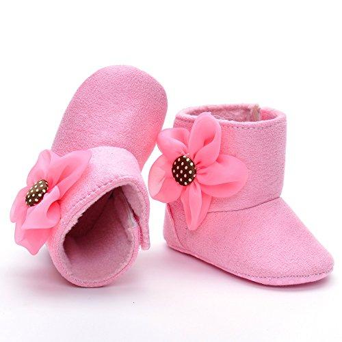 ESTAMICO , Baby Mädchen Krabbelschuhe & Puschen Pink rose