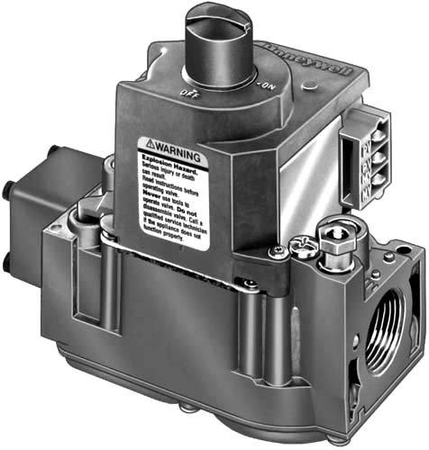 Honeywell, Inc. VR8304M2501 1/2 x 1/2 inch Intermittent Pilot Dual Automatic Valve Natural Gas