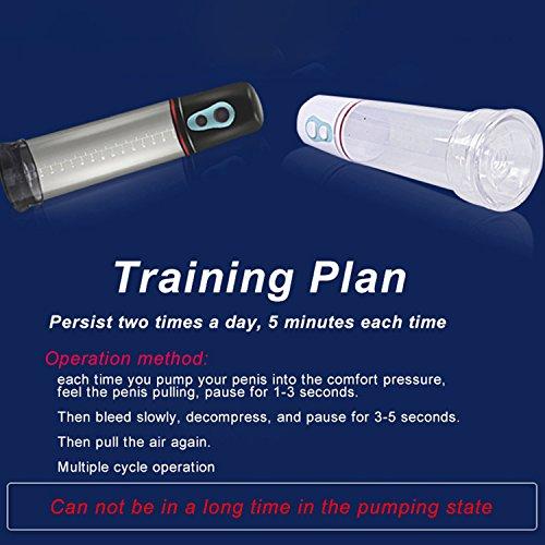 Electric Auto Penis Enlargement Pump Male Vibrator Cock Extend Enlarger Penile Erection Training