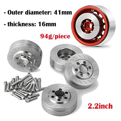 "4Pcs Internal Wheel Weights for 1/10 RC 2.2"" Beadlock Wheel Rims: Toys & Games"