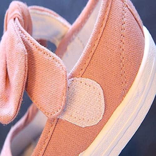 Children's tuinschoenen Kinderen Canvas Bow Flats Schoenen Solid Sneakers, Maat: 27 (grijs). (Color : Gray) Pink