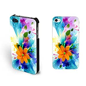 Pastel Floral Pattern Design Phone Case - Pretty Hipster Fancy Colorful Flower Iphone 4 4s Case Skin for Girls